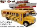 "7.75"" SCHOOL BUS WITH SOUND AND LIGHT"